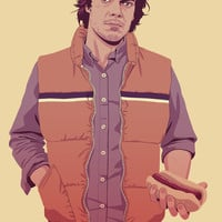 GAME OF THRONES 80/90s ERA CHARACTERS - Theon Art Print by Mike Wrobel