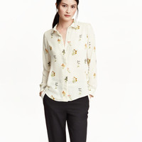 Long-sleeved Blouse - from H&M