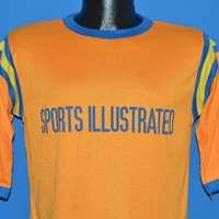 80s Sports Illustrated Orange Striped Jersey t-shirt Medium