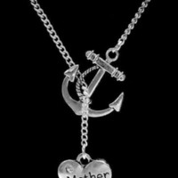 My Mother Mom My Anchor Of Hope Mom Gift Lariat Necklace