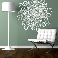 Vinyl Wall Decal Sticker Flower Mandala #1567