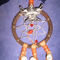 Pirates Skulls Day of the Dead Dreamcatcher