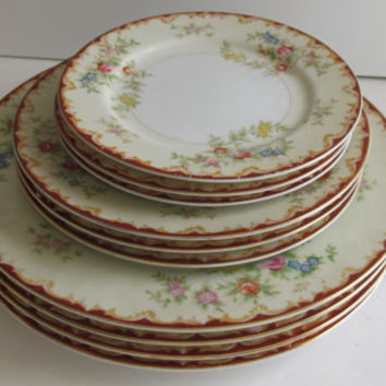 Lovely Dinner Set Dinner Plate Set Black Tower China Plates