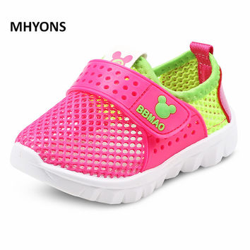 MHYONS 2017 Summer Boys Air Mesh Casual Shoes Children Baby Girl Beach Sandal Fashion Toddler Sport Sandals Size 26-30