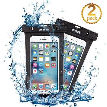 "2 Pack Waterproof Dry bag Pouch Case 6"" Underwater Diving Swimming iPhone 7 6 6s plus 5s SE S7"