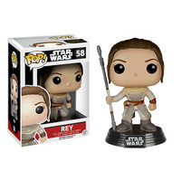 Rey Pop Star Wars Force Awakens Bobble-Head Vinyl Figure
