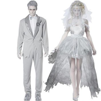 ESBONG Disney Halloween Zombie Couple Wedding Dress [8939093639]