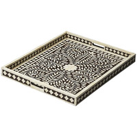 Butler Hors D'Oeuvres Bone Inlay Serving Tray