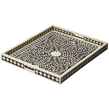 Hors D'Oeuvres Bone Inlay Serving Tray