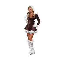 Dreamgirl Womens Eskimo Cutie Halloween Party Dress Costume