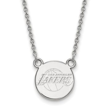NBA Los Angeles Lakers Small Disc Pendant in Sterling Silver