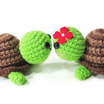 Crochet Turtle - Amigurumi Turtle - Kawaii Turtle - Mini Turtle - Turtle Toy - Turtle Plushie - Turtle Stuffed Animal -Tortoise - Gift Ideas