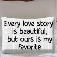 Love Story Quote on Decorative Pillow Covers