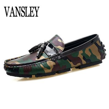 Men Loafers Shoes Italy Oxfords Business Dress Camouflage Boat Summer Autumn Shoes Formal Oxford Shoes Men Flat Shoes Wedding