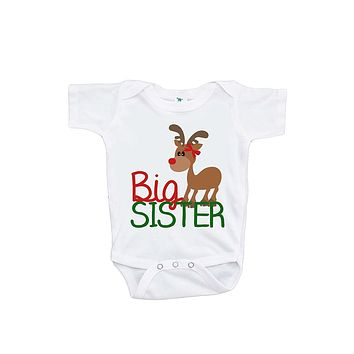 Custom Party Shop Baby's Big Sister Christmas Onepiece