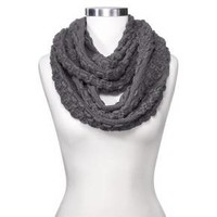 Women's Sylvia Alexander Knit Infinity Scarf - Gray : Target