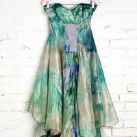 Rough And Tumble Vintage Seafoam Tie-Dye Dress- Green One