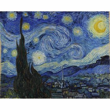 The famous abstract oil painting Van Gogh coloring by numbers cuadros decor wall art on canvas pictures for living room SZ-FJ18