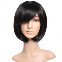 Natural Women Straight Short Hair Bob Wig Fashion Cosplay + Wig Cap + Wig Comb