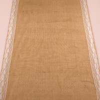 Burlap with Lace Aisle Runner