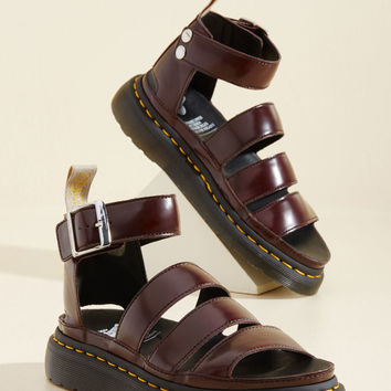 Flatform Performance Vegan Sandal in Oxblood