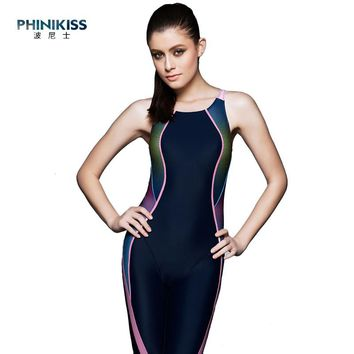 Professional Women's One-piece Cross Back Sexy Swimwear Sports Competition Boxer Bodysuit Swimsuit Bathing Swim Dive Suits Girl