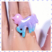 Rainbow Unicorn Ring sold by Hysteric Kingdom