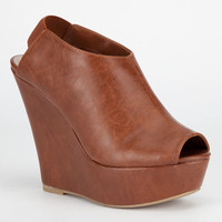 Madden Girl Wallup Womens Wedges Cognac  In Sizes