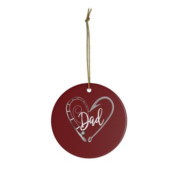 Ceramic Ornaments For Fishing Dad - Fishing Hook Christùas Ornament Holiday Gift For Fathers