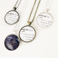 Customized Dictionary Jewelry Personalized by cellsdividing