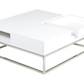 Udrina Coffee Table, White, Cocktail Table, Coffee Table Base