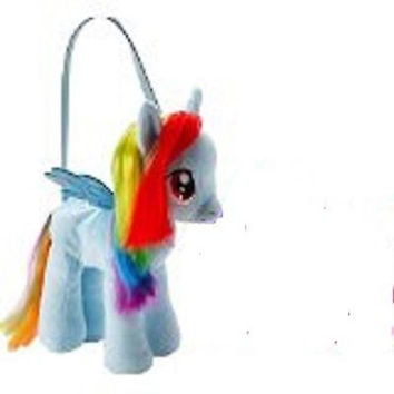 "My Little Pony Dash 13"" Plush Character Toy Stuffed Animal Purse-brand new!"