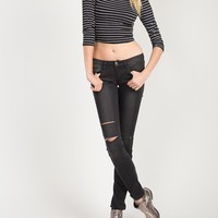 Faded Out Knee Slit Jeans