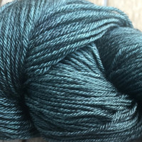 New! Hand Dyed Yarn - Dark Emerald - Green - Merino & Mulberry Silk - 4 ply Fingering Weight Yarn 100gr