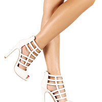 Sweet Escape Heels: White