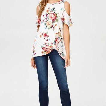Floral Cold Shoulder