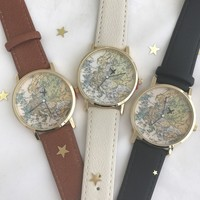 Flying World map watch
