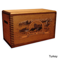 Wood Ammo Box Shotgun Rifle Handgun Gun Hunting Cleaning Supplies Case Turkey
