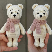 Crochet bear doll, stuffed teddy bear, amigurumi teddy bear, crochet teddy bear