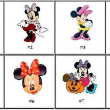 Disney Minnie Mouse Nail Decals Set of 20 - Choose from 8 designs