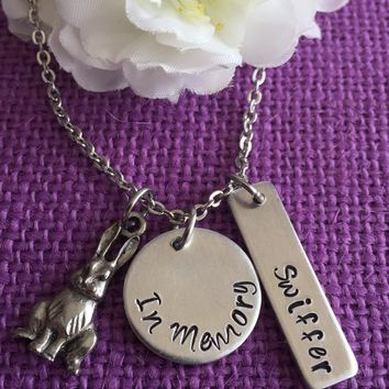 Pet Memorial Jewelry - Pet Memorial Necklace  Dog, Cat, Rabbit - Pet Loss Gift - Pet Remembrance - Bunny Memorial - Cat Memorial - Dog