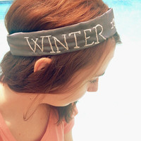 Game of Thrones Stark headband- Winter is Coming