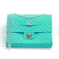 American Jewel Quilted Purse with Chain