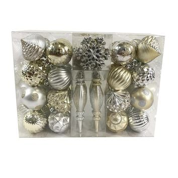 Trimming Traditions 58 Ct Shatterproof Christmas Ornament Set