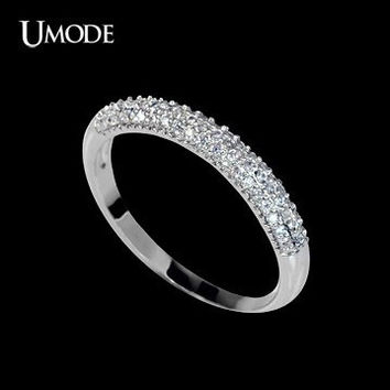 Micro Pave Stacking Ring Cubic Zirconia Stacking Ring Engagement Ring Diamond Ring Silver Ring Band Ring Wedding Ring Anniversary