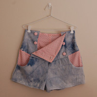 Oh Hello High Waisted Shorts Denim