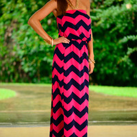 Out And About Maxi, Navy/Pink