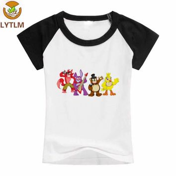LYTLM Summer Short Sleeve Cotton O-neck Collar Cool Boy T-shirt  At Freddy Korean Style Clothes for Kids Toddler Tops