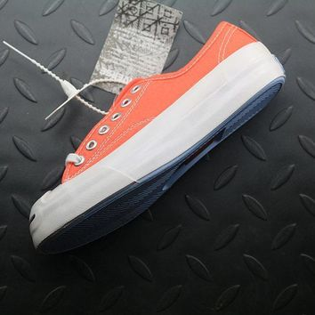 ESBON Converse Jack Purcell Fashion Canvas Flats Sneakers Orange
