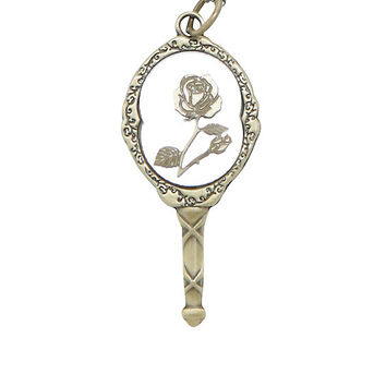 Disney Beauty And The Beast Mirror Necklace